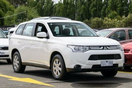 2013 Mitsubishi Outlander ZJ MY13 ES 4WD White 6 Speed Constant Variable Wagon Ringwood East Maroondah Area Preview