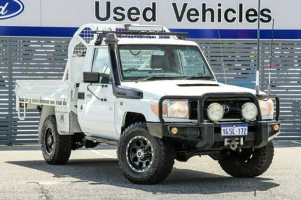 2010 Toyota Landcruiser VDJ79R MY10 Workmate White 5 Speed Manual Cab Chassis Maddington Gosnells Area Preview