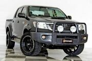 2014 Toyota Hilux KUN26R MY12 SR (4x4) Grey 4 Speed Automatic Dual Cab Pick-up Burleigh Heads Gold Coast South Preview