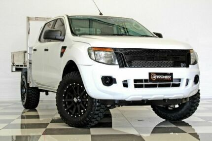 2013 Ford Ranger PX XL 2.2 HI-Rider (4x2) White 6 Speed Automatic Crew Cab Chassis Burleigh Heads Gold Coast South Preview