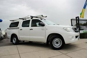 2008 Toyota Hilux GGN15R 08 Upgrade SR White 5 Speed Automatic Dual Cab Pick-up Beaconsfield Cardinia Area Preview