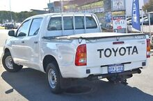 2011 Toyota Hilux KUN16R MY10 SR White 5 Speed Manual Utility Willagee Melville Area Preview