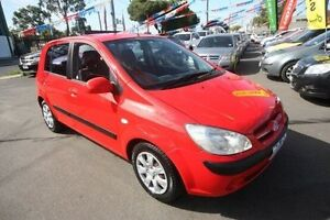 2006 Hyundai Getz TB MY06 Red 5 Speed Manual Hatchback Kingsville Maribyrnong Area Preview