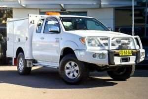2006 Toyota Hilux GGN25R MY05 SR5 Xtra Cab White 5 Speed Manual Utility Kirrawee Sutherland Area Preview