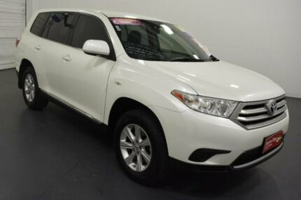2012 Toyota Kluger GSU40R MY11 Upgrade KX-R (FWD) 5 Seat White 5 Speed Automatic Wagon Moorabbin Kingston Area Preview