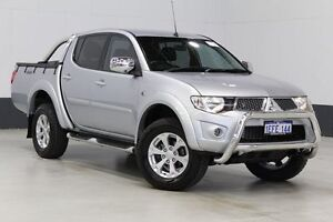 2013 Mitsubishi Triton MN MY13 GLX-R (4x4) Silver 5 Speed Manual 4x4 Double Cab Utility Bentley Canning Area Preview