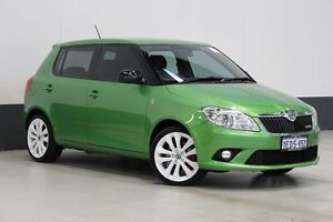 2012 Skoda Fabia 5JF MY13 RS 132 TSI Green 7 Speed Automatic Hatchback Bentley Canning Area Preview