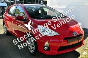2013 Toyota Prius c NHP10R E-CVT Red 1 Speed Constant Variable Hatchback Hybrid Brookvale Manly Area Preview