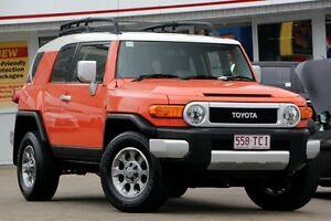 2013 Toyota FJ Cruiser GSJ15R Orange 5 Speed Automatic Wagon Woolloongabba Brisbane South West Preview