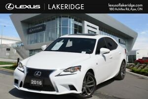 2016 Lexus IS 300 AWD, F Sport 2, No Accidents, Navi / Roof / BS