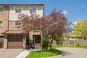 Highly Sought After Community 3 Bdrm End Unit Townhouse