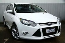 2013 Ford Focus LW MKII Sport PwrShift White 6 Speed Sports Automatic Dual Clutch Hatchback Frankston Frankston Area Preview