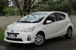 2012 Toyota Prius c NHP10R E-CVT White 1 Speed Constant Variable Hatchback Hawthorn Mitcham Area Preview