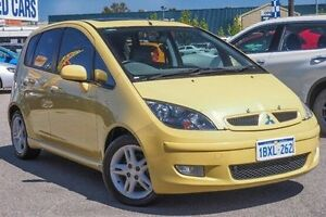 2004 Mitsubishi Colt RG XLS Yellow 1 Speed Constant Variable Hatchback Bellevue Swan Area Preview