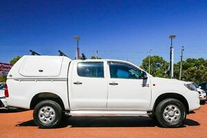 2012 Toyota Hilux KUN26R MY12 SR Double Cab White 5 Speed Manual Utility Wangara Wanneroo Area Preview