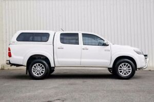 2014 Toyota Hilux KUN26R MY14 SR5 (4x4) White 5 Speed Automatic
