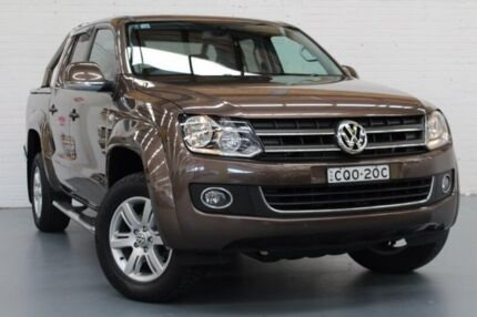 2013 Volkswagen Amarok 2H MY14 TDI420 4Motion Perm Highline Brown 8 Speed Automatic Utility
