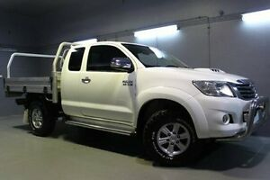 2011 Toyota Hilux KUN26R MY12 SR5 Xtra Cab White 5 Speed Manual Utility Invermay Launceston Area Preview