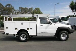 2011 Nissan Patrol GU 6 Series II DX Polar White 5 Speed Manual Cab Chassis Acacia Ridge Brisbane South West Preview