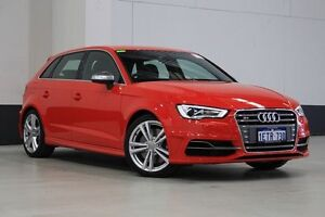 2015 Audi S3 8V MY15 Sportback 2.0 TFSI Quattro Red 6 Speed Direct Shift Hatchback Bentley Canning Area Preview