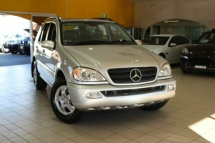 2002 Mercedes-Benz ML320 W163 MY2002 Classic Silver 5 Speed Automatic Wagon Jamisontown Penrith Area Preview
