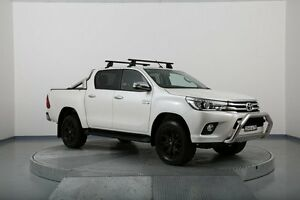 2016 Toyota Hilux GUN126R SR5 Double Cab White 6 Speed Sports Automatic Utility Old Guildford Fairfield Area Preview