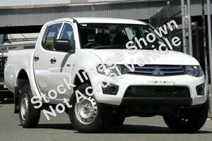 2012 Mitsubishi Triton MN MY12 GLX White 5 Speed Manual Double Cab Utility Osborne Park Stirling Area Preview