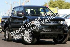 2014 Mitsubishi Triton MN MY15 GLX Double Cab Black 5 Speed Manual Utility Winnellie Darwin City Preview