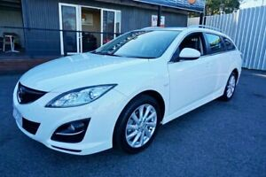 2011 Mazda 6 GH1052 MY12 Touring Crystal White Pearl 5 Speed Sports Automatic Wagon