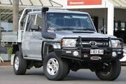 2016 Toyota Landcruiser VDJ79R GXL Double Cab Silver Pearl 5 Speed Manual Cab Chassis Christies Beach Morphett Vale Area Preview