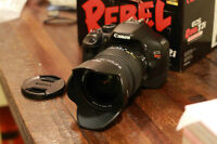 CANON  eos rebel T2i with SIGMA 18MM to 50MM F2.8 to 4.5 DC HSM