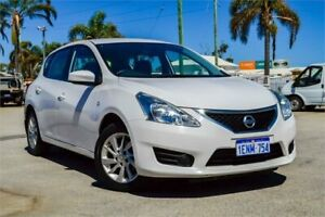2014 Nissan Pulsar C12 ST Cloud White Continuous Variable Hatchback Greenfields Mandurah Area Preview