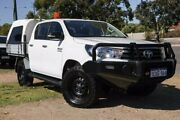 2016 Toyota Hilux GUN126R SR Double Cab White 6 Speed Sports Automatic Utility Wangara Wanneroo Area Preview