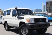 2011 Toyota Landcruiser VDJ78R 09 Upgrade Workmate (4x4) 3 Seat French Vanilla 5 Speed Manual Northbridge Perth City Area Preview