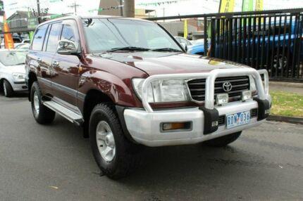2001 Toyota Landcruiser Red Wagon West Footscray Maribyrnong Area Preview