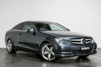 2012 Mercedes-Benz C250 C204 BlueEFFICIENCY 7G-Tronic   Grey 7 Speed Sports Automatic Coupe Rozelle Leichhardt Area Preview