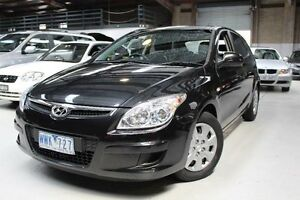 2008 Hyundai i30 FD SX Black 4 Speed Automatic Hatchback Knoxfield Knox Area Preview