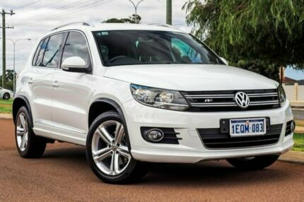 2014 Volkswagen Tiguan 5N MY15 155TSI DSG 4MOTION R-Line Pure White 7 Speed Wangara Wanneroo Area Preview
