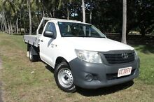 2012 Toyota Hilux TGN16R MY12 Workmate Glacier White 5 Speed Manual Cab Chassis The Gardens Darwin City Preview