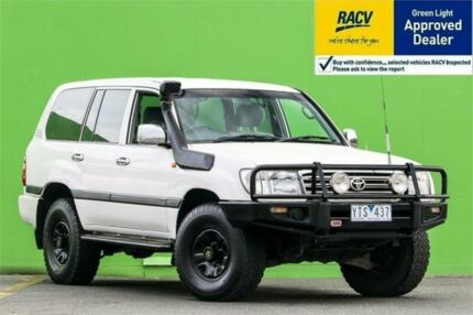2004 Toyota Landcruiser UZJ100R GXL White Automatic Wagon Ringwood East Maroondah Area Preview