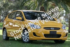 2017 Hyundai Accent RB4 MY17 Active Yellow 6 Speed Constant Variable Hatchback Currimundi Caloundra Area Preview