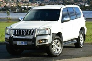 2005 Toyota Landcruiser Prado KZJ120R GXL White 4 Speed Automatic Wagon