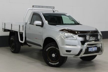 2012 Holden Colorado RG LX (4x4) Silver 6 Speed Automatic Cab Chassis Bentley Canning Area Preview
