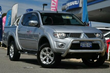 2015 Mitsubishi Triton MN MY15 GLX-R Double Cab Silver 5 Speed Sports Automatic Utility Willagee Melville Area Preview