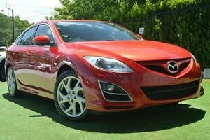 2011 Mazda 6 GH1052 MY12 Luxury Sports Red 6 Speed Manual Hatchback Paradise Campbelltown Area Preview