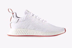 Adidas NMD R2 - White/Red - Size 9