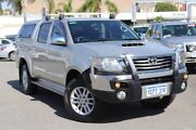 2014 Toyota Hilux KUN26R MY14 SR5 (4x4) Sterling Silver 5 Speed Automatic Dual Cab Pick-up Northbridge Perth City Area Preview