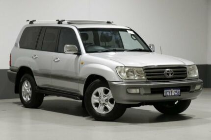 2005 Toyota Landcruiser UZJ100R Upgrade Sahara (4x4) Silver 5 Speed Automatic Wagon Bentley Canning Area Preview