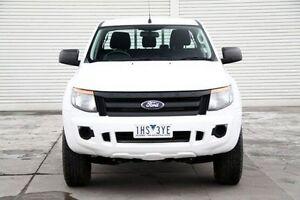 2012 Ford Ranger PX XL Double Cab 4x2 Hi-Rider White 6 Speed Sports Automatic Utility Seaford Frankston Area Preview