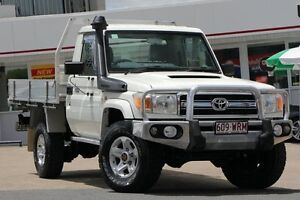 2010 Toyota Landcruiser VDJ79R MY10 GXL White 5 Speed Manual Cab Chassis Woolloongabba Brisbane South West Preview